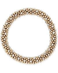 Meredith Frederick - Beth 14-karat Gold And Silver Bead Bracelet - Lyst