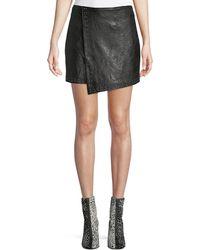 Joie - Orlanda Draped Studded Lamb Leather Skirt - Lyst