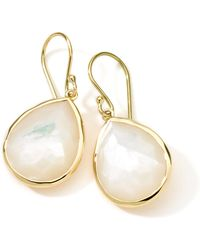 Ippolita - 18k Gold Rock Candy Medium Mother-of-pearl Teardrop Earrings - Lyst