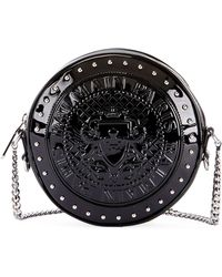 Balmain - Circle Disco Patent Crossbody Bag - Lyst