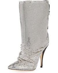 Marco De Vincenzo - Chainmail Pointed Booties - Lyst