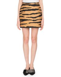 Proenza Schouler - Tiger-jacquard Straight Mini Skirt - Lyst