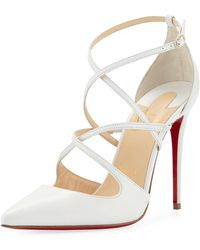 b38a77daf4a6 Lyst - Christian Louboutin Dollyla Patent 100mm Red Sole Pump in Natural