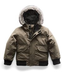 The North Face - Gotham Down Hooded Jacket W/ Faux-fur Trim - Lyst