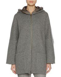 Agnona | Zip-front Mink Fur-lined Hoodie | Lyst