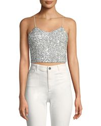 AO.LA by alice + olivia - Archer Embellished Cropped Cami Top - Lyst