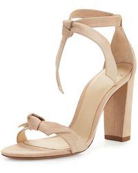 Alexandre Birman - Clarita Suede Block-heel Sandals - Lyst