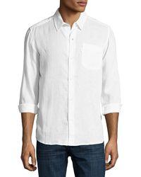 Derek Rose - Monaco Linen Sport Shirt - Lyst