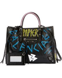 Balenciaga - Papier A6 Zip Around Graffiti Tote Bag - Lyst