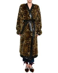 Attico - Animal-print Faux Fur Robe - Lyst