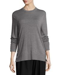 Michael Kors - Merino Wool Side-snap Sweater - Lyst