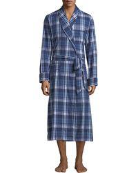 9b1c94cd4f Lyst - Derek Rose Men s Aston 34 Striped Velour Robe in Blue for Men