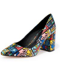 Alice + Olivia - Keith Haring X Alice +olivia Collage Pumps - Lyst