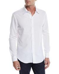Emporio Armani - Men's Seersucker Sport Shirt - Lyst