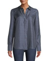 Lafayette 148 New York - Scottie Feminine Foulard Silk Blouse - Lyst