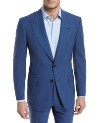 Tom Ford - Fresco Wool Mouline Two-piece Suit - Lyst