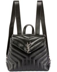 Saint Laurent - Monogram Ysl Loulou Small Y-quilted Leather Backpack - Lyst