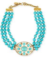 Ashley Pittman - Bendi Turquoise & Light Horn Pendant Necklace - Lyst