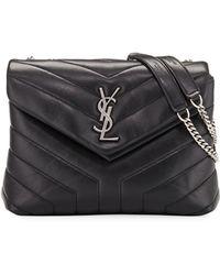 d075e6dabf89 Saint Laurent - Loulou Monogram Ysl Small V-flap Chain Shoulder Bag -  Miroir Hardware