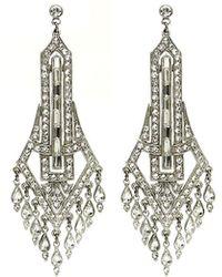 Ben-Amun - Deco Chandelier Crystal Drop Earrings - Lyst