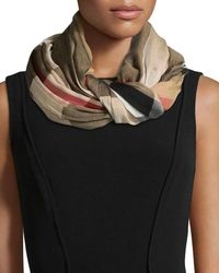 Burberry | Sheer Mega Check Scarf | Lyst