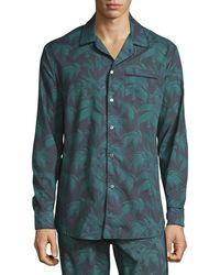 Desmond & Dempsey - Men's Byron Palm Leaf-print Lounge Shirt - Lyst