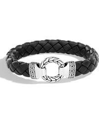 John Hardy - Men's Classic Chain Braided Leather Bracelet - Lyst
