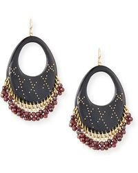 Ashley Pittman - Vuka Dark Horn Open Hoop Earrings - Lyst