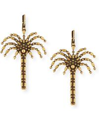 Auden - Palm Tree Drop Earrings - Lyst