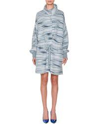 Missoni - Funnel-collar Drawstring-waist Space-dye Alpaca-mohair Blend Coat - Lyst
