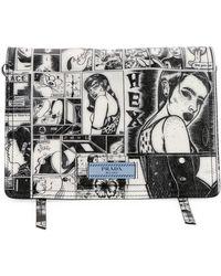 Prada - Vintage Comic Glace Calf Shoulder Bag - Lyst