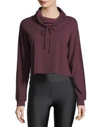 Lanston - Funnel-neck Boxy Cropped Pullover - Lyst