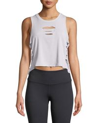 Alo Yoga | Cut-it-out Cropped Tank | Lyst