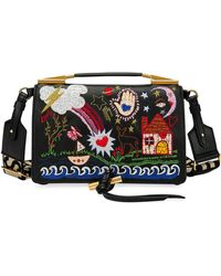 60e3be23cb Stella McCartney - Small Alter Napa Scenery Embroidered Shoulder Bag - Lyst