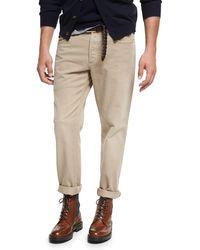 Brunello Cucinelli - Cotton Five-pocket Pants - Lyst