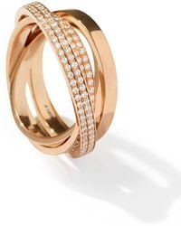 Repossi | Technical Berbère Diamond Ring In 18k Rose Gold | Lyst