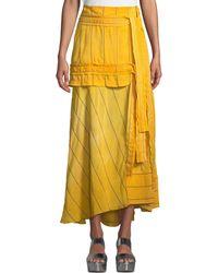 3.1 Phillip Lim - Striped Tie-front Maxi Skirt - Lyst