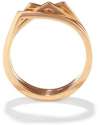 Repossi - Antifer Four-row Ring In 18k Gold - Lyst