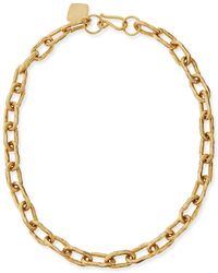 "Ashley Pittman | 18"" Hammered Bronze Chain Necklace 