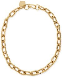 "Ashley Pittman - 18"" Hammered Bronze Chain Necklace - Lyst"
