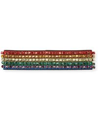 Gucci - Metallic Crystal Webby Headband - Lyst