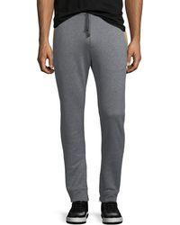 Ferragamo | Men's Heathered-knit Cotton Sweatpants | Lyst