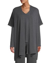 Natori - Cocoon Heathered Topper Sweater - Lyst