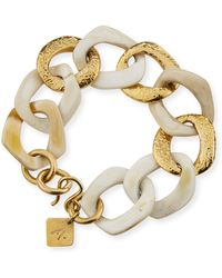 Ashley Pittman - Salama Light Horn & Bronze Link Bracelet - Lyst