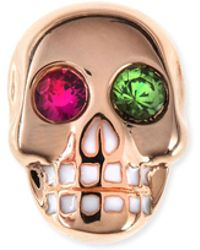 Sydney Evan - 14k Rose Gold Gemstone Skull Single Stud Earring - Lyst