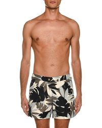 c4c1132467 Tom Ford - Men's Tropical Graphic Swim Trunks - Lyst