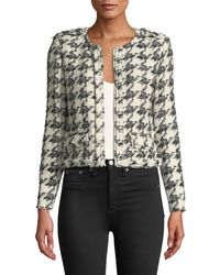 IRO - Hope Strong-shoulder Cropped Tweed Jacket - Lyst