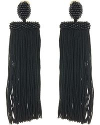 Oscar de la Renta - Silk Waterfall Tassel Clip-on Earrings - Lyst
