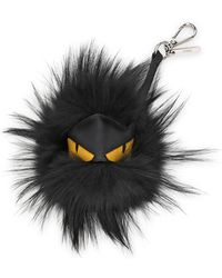 Fendi - Fur Monster Charm For Men's Bag - Lyst