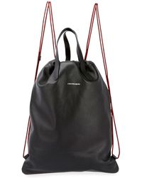 Alexander McQueen - Men's Leather Drawstring Sling Backpack - Lyst